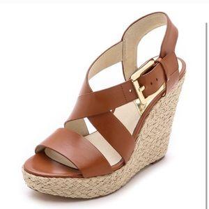 Michael Kors women's Giovanna wedge brown sandal